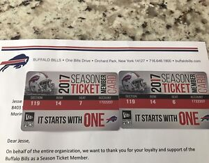 Buffalo Bills season tickets (pair)