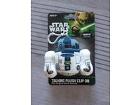 Star Wars, talking plush clip on, NEW