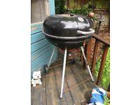 Black charcoal BBQ