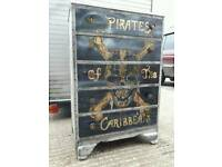 Pirates of the Caribbean style chest of drawers