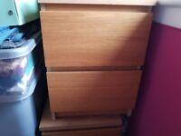 Malm oak drawers