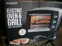Silver Crest ELECTRIC OVEN AND GRILL 240v 13 amp New unboxed from German Manufacturer.