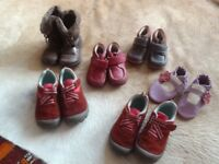 Used conditiion little girls shoes ranging from 18-24months to 8.5. Can buy individually.
