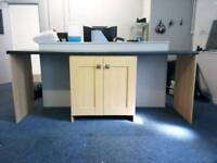 Utility room cabinet and work top