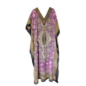 Long Kaftan Caftan Lounge Maxi Beach or Party dress one size