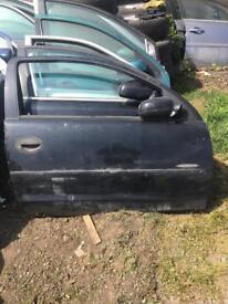 Vauxhall Corsa 2002 drivers door black 3door