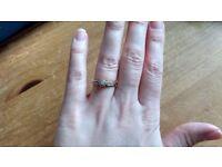 9ct gold, .10ct diamond ring, size K1/2