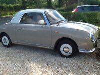 Nissan Figaro, convertible, Topaz Mist, leather interior, original extras, automatic,, Mot July 18