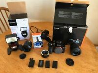 Sony a7 body, lenses and accessories all mint condition