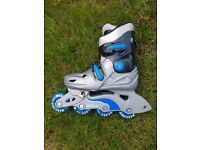 2 x pairs barely used KIDS roller blades- Size 12J-2