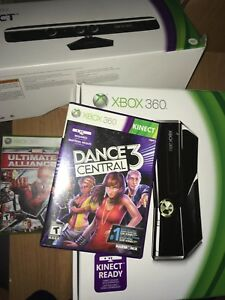 Xbox 360 250 GB with Kinect and games