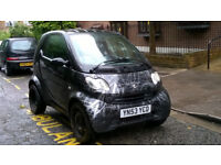 SMART CITY COUPE PURE 61 SEMI-AUTO 698cc 2004 53 REG MET BLACK 2 DOOR COUPE 58K MILES MISFIRING!