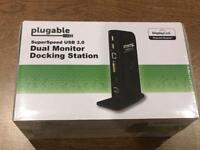 Dual monitor docking station