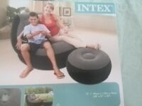 One Person Inflatable Chair + Ottoman PERFECT CONDITIONS