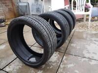 Set of 4 215/35/18 part worn tyres