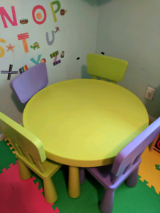 Good condition ikea table and chairs mammut collection