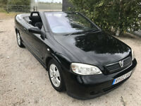 Stunning little astar Converible 1.6 petrol in black with only 56,000 miles - MOT - great drive