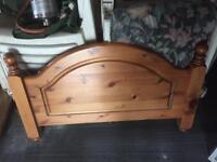 Wooden pine single bed head board