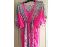 Fab hot pink patterned beach wrap