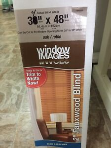 Faux wood blind brand new