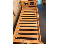 Excellent Children Solid Wood bed with guard rail