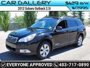 2012 Subaru Outback 2.5i Limited w/Sunroof, Leather, Navi $129B/