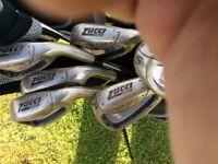 Golf set for sale, including bag & stand