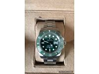 Rolex submariner HULK GREEN luxury automatic diver watch brand new with WAVE BOX