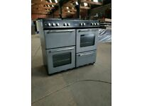 Silver A+ Class Belling Country Range Gas Cooker With 7 Burners (Width 100cm)