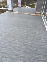 Vinyl Deck covering and Welded Aluminum railings. Residential an