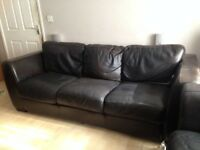 2 Leather Sofas Free to collect
