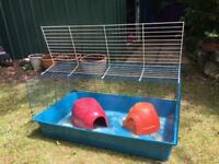 Indoor guinea pig /small rabbit cage and 2 pigloos.