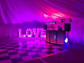 Disco Hire for WEDDINGS,BIRTHDAYS,CHILDREN'S PARTIES etc taking booking for 2018