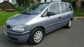 Vauxhall zafira 1.6 petrol 7 seater long mot only 87000 miles