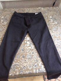 mens skinny fit jeans in black