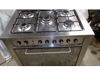 Stainless steel Range cooker (Dual Fuel) Good overall condition