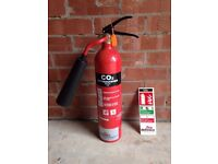 EXCELSIUS CO2 FIRE EXTINGUISHER 2KG - NEVER USED