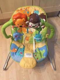 Fisher price bouncy vibrating baby chair bouncer
