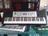 yamaha keyboard in box with mains lead in good condition 385 voices. 102 preset songs only been once