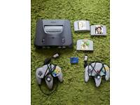 Nintendo n64 with 3 games
