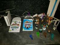 Wii console and skylanders