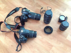 T5 T3 Canon DSLR + lenses