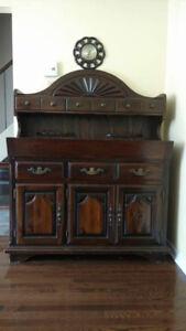 desserte antique en bois massif / antique furniture solid wood