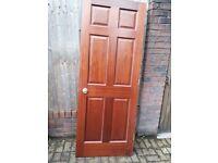 Solid wood mahogany internal doors