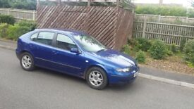 2001 51 PLATE SEAT LEON 1.6 SE 5 DOOR HATCHBACK BLUE