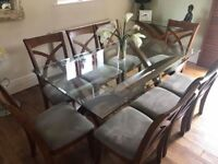 Stunning 8 seater table, chairs and consul table