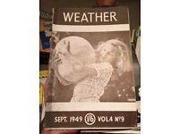 Weather magazines 1946-1954 (16 copies)