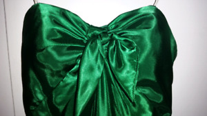 Two green formal occasion/prom dresses size 2.