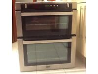 Built under double gas oven