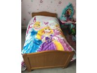 Cot bed and immaculate matterace